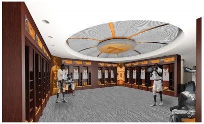 Mens Locker Room Renderings - Thompson-Boling Arena - Studio Four Design