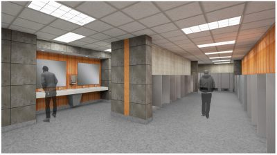 Concourse Restroom Renderings - Thompson-Boling Arena - Studio Four Design
