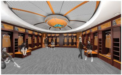 Womens Locker Room Renderings - Thompson-Boling Arena - Studio Four Design